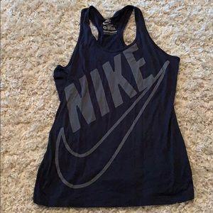 Navy blue Nike tank top